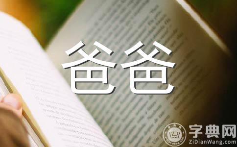 【热门】我的爸爸800字作文
